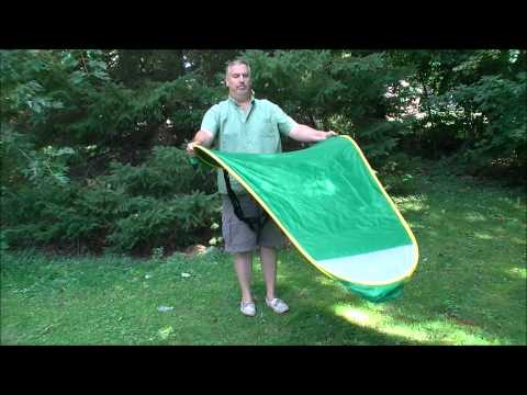 Folding the Privacy Pop Up Tent