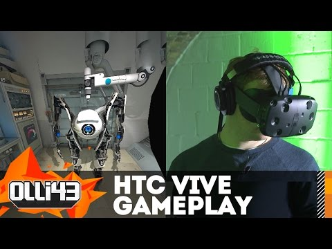 HTC VIVE Gameplay & Demo Impressions! Portal, Tilt Brush, and More!