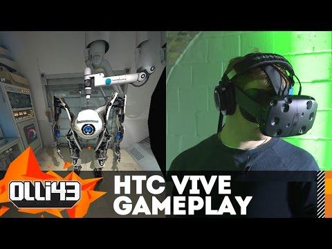 HTC VIVE Gameplay & Demo Impressions! Portal, Tilt Brush, and More!