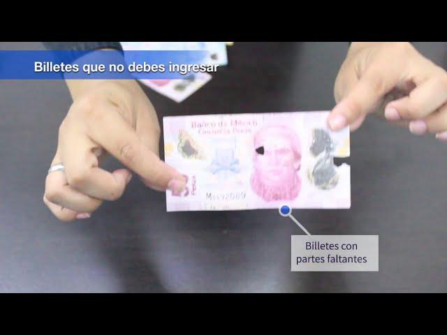 ¿Qué hacer con billetes dañados?