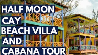 Half Moon Cay Beach Villa, and Cabana Rental Tour, Carnival Cruise Line