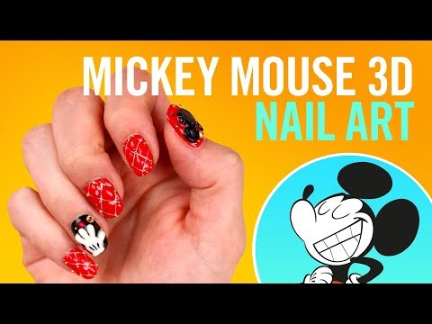 Mickey Mouse 3D Nail Art