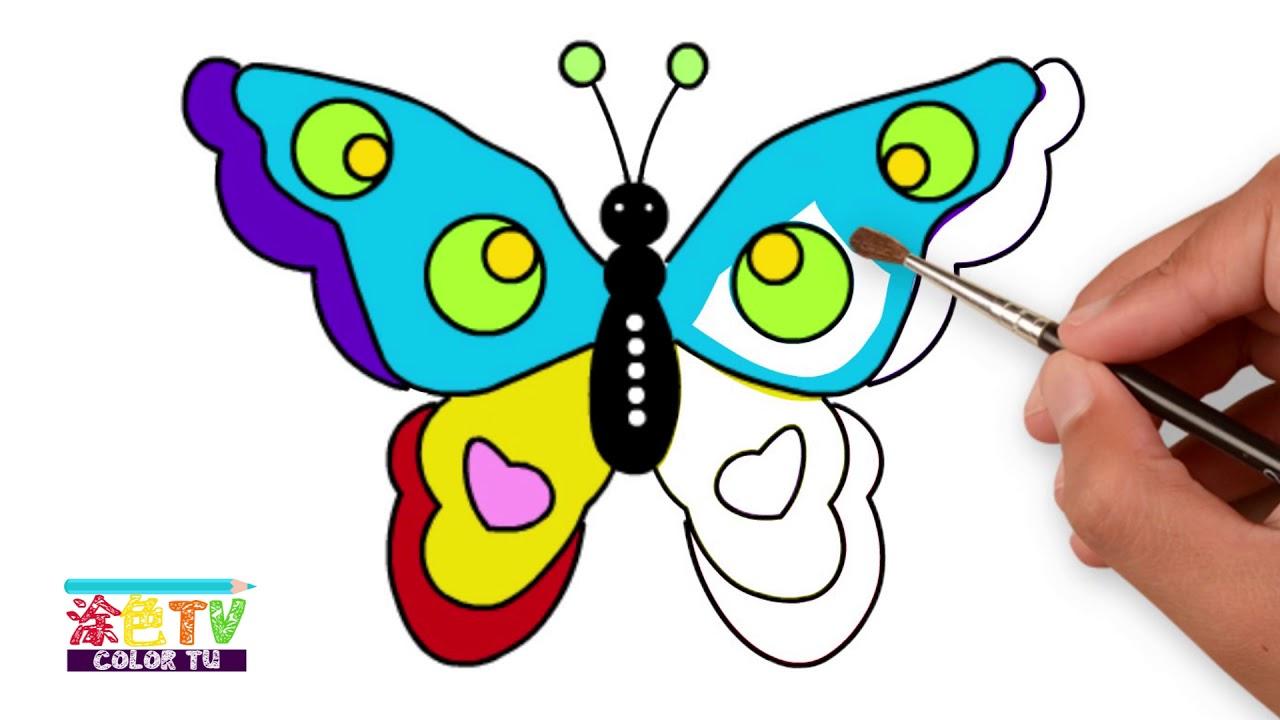 Children's Colouring Book Glitter Rainbow Butterfly ...