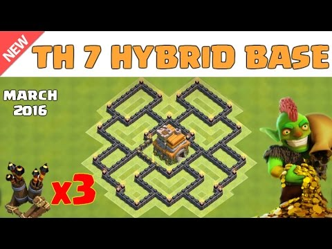 Clash Of Clans - Town Hall 7 (TH7) Hybrid Base 2016 ♦ Save Resources + Get Trophy