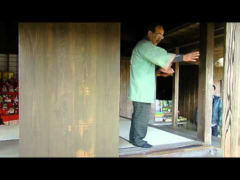 Demonstration Of Japanese Samurai House's Sliding Doors In Chiran, Kagoshima, Japan