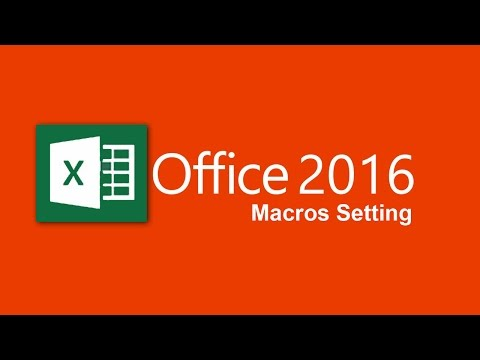 How to enable macros in excel 2016 - YouTube