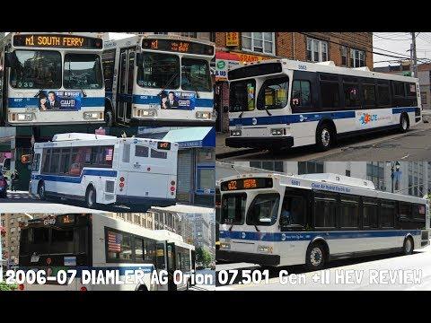 NYCTA/MTAB: 2006-07 Daimler Chrysler Orion 07.501 HEV Gen +II Review