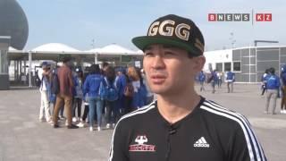 Знаменитые казахстанские олимпийцы проводят на ЭКСПО зарядку для волонтеров