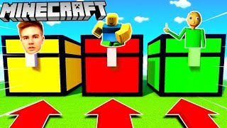 DO NOT SELECT THE WRONG CRATE (LORD KRUSZWIL, ROBLOX, BALDI) MINECRAFT MATRUNER