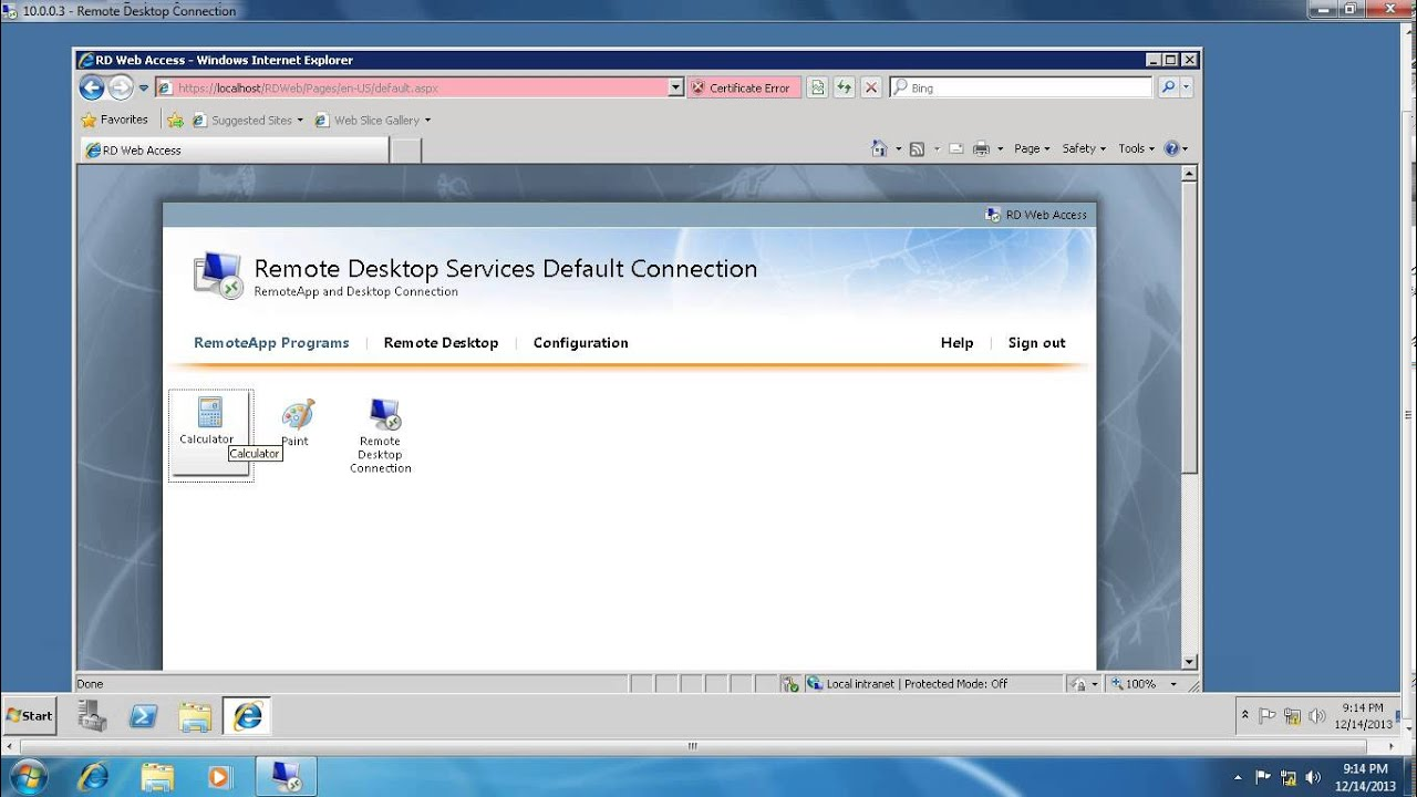 Remote Desktop Web Access In Windows Server 2008 R2 Part2 Youtube