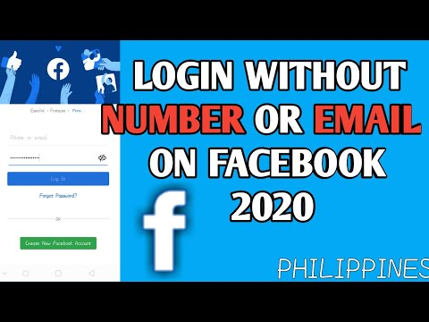 HOW TO LOG IN WITHOUT NUMBER OR EMAIL ON FACEBOOK | 2020