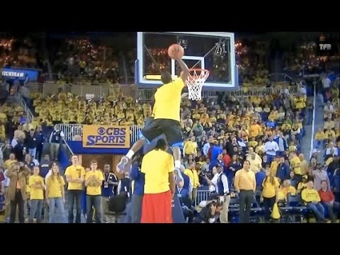 """5'5"""" Porter Maberry Shows Out During TFB University of Michigan Half-Time Dunk Show"""