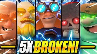 """INFINITE SWARM!! New 5X GIANT Deck DOESN""""T LOSE in Clash Royale!! 😱"""