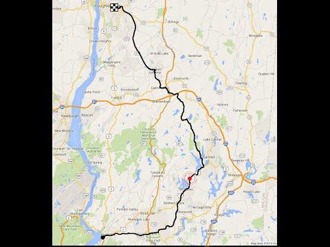 Peekskill to Poughkeepsie NY recumbent bicycle ride
