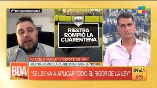 El Club Deportivo Riestra rompió la cuarentena para entrenar: serán sancionados