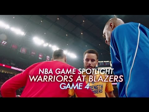 NBA Game Spotlight: Warriors at Trail Blazers Game 4