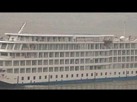 Water Bus Meets Cruise Ship