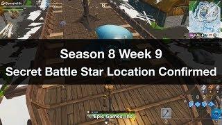 Fortnite - Temporada 8 Semana 9 Ubicación Secreta de la Estrella de Batalla