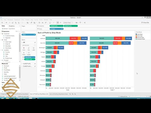 Stacked Bar Chart Totals in Tableau - YouTube