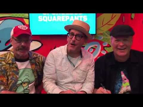 Tom Kenny, Bill Fagerbakke, & Rodger Bumpass at San Diego Comic Con 2016