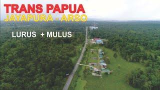 Pesona Trans Papua Jayapura - Arso, Jalan Mulus dan Lurus dengan View Hutan Hijau yang Indah