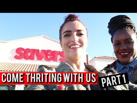 Come Thrifting With Us|White elephant gifts, clothes, books at Savers Part 1| #ThriftersAnonymous