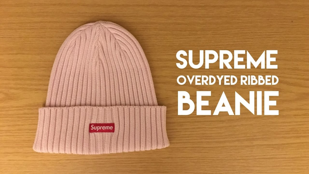 Supreme Overdyed Ribbed Beanie Light Pink - First Look - YouTube 599d80eaea7