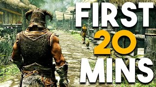 Skyrim Special Edition First 20 Minutes of PC Ultra Settings Gameplay