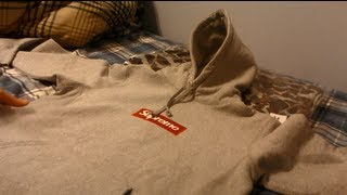 Supreme Gray and Camo Box Logo Hoodies Fall Winter 2012 Unboxing and Review