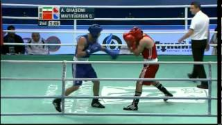Welter (69kg) SF - Ghasemi (IRI) vs Maitituersun (CHN) - 2012 AIBA Asian Olympic Qualifying Event