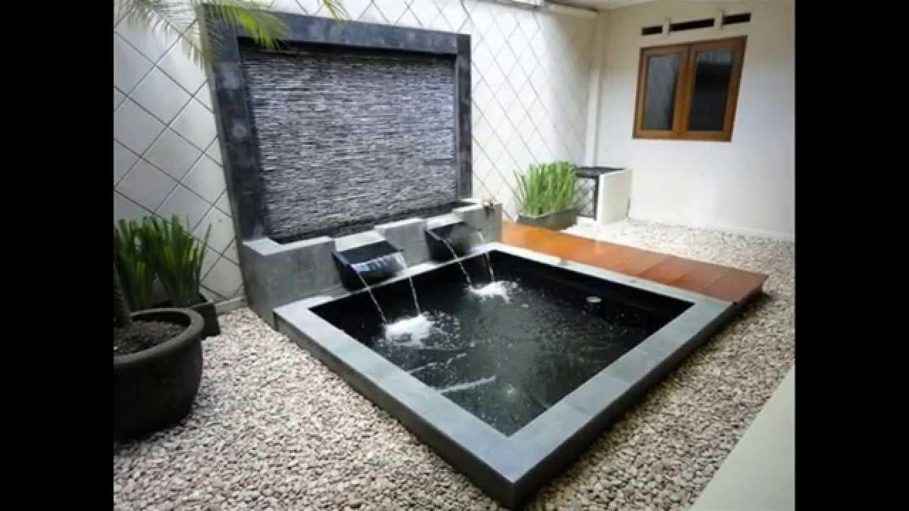 Ide Desain Air Mancur Kolam Taman Minimalis Rumah Minimalis