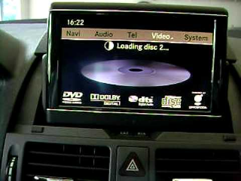 car audio thivaios mercedes w204 tv tuner alpine rear. Black Bedroom Furniture Sets. Home Design Ideas