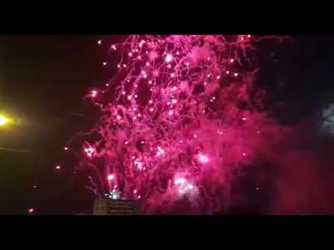 A Estrada se despide de San Paio con un espectáculo piro-musical