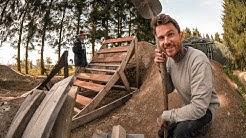 Startturm und neuen Sprung aus Holz für meinen MTB Garten Bikepark bauen   Teil 3   Fabio Schäfer