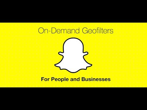 Snapchat on demand geo filters within Snapchat