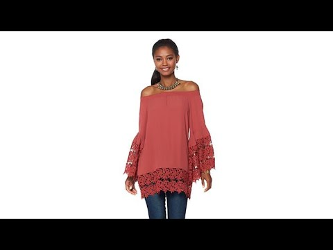 Colleen Lopez A Bit of Romance OfftheShoulder Lace Top