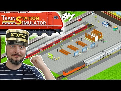 🚆LAD OS BYGGE EN BANEGÅRD! - Train Station Simulator Dansk Ep 1