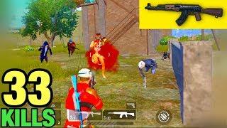 BEST AKM GAMEPLAY   33 KILLS SOLO VS SQUAD   PUBG MOBILE