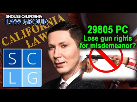 Penal Code 29805 PC – Illegal Gun Possession After Certain Misdemeanor Convictions in California