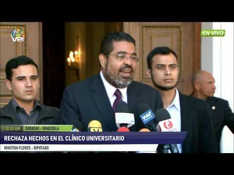 Venezuela - Dip. Flores denunció hechos ocurridos en el Hospital Clínico Universitario - VPItv