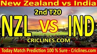 Today Match Prediction-New Zealand vs India-2nd T20-Who Will Win