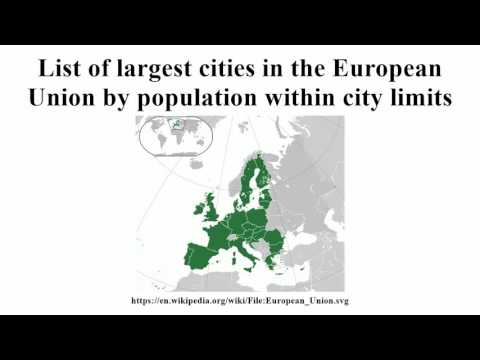 List of largest cities in the European Union by population within city limits