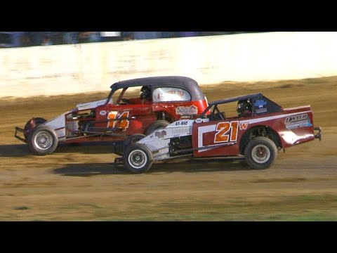 Vintage Modified Heat One at Stateline Speedway (Busti, NY) on Saturday, August 31st, 2019! Stateline Speedway: http://newstatelinespeedway.com. - dirt track racing video image