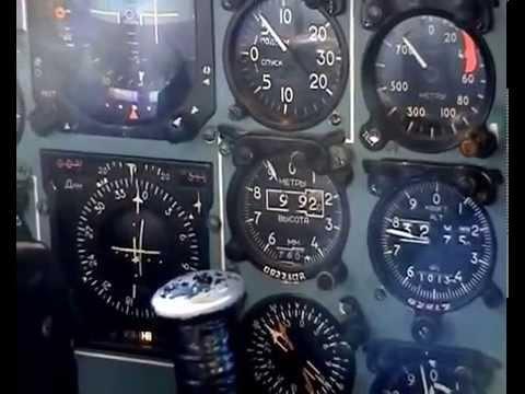 работа экипажа Ту-154 (часть первая из трёх)..TU154 VIEW FROM the COCKPIT