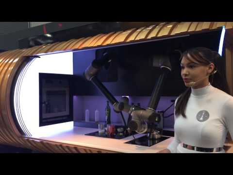 Demonstration Of A Robotic Kitchen Using Two UR5 Robot Arms
