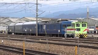 24系8両入場-構内移動 長野総合車両センター