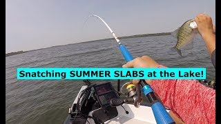 SNATCHING Summertime Slab Crappie at the Lake!