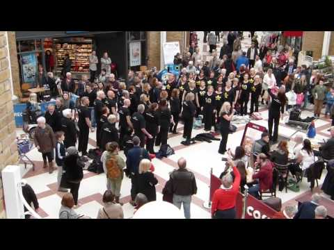 Rock Choir Flash Mob for Comic Relief - Martlets, Burgess Hill