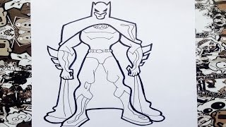 Como dibujar a Batman | how to draw batman | como desenhar o batman