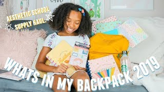 Back To School Supplies Haul/ WHATS IN MY BACKPACK 2019